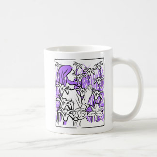 イースター・リリーのマグを持つイエス・キリスト コーヒーマグカップ