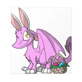 イースターBubblegumかピンクSDの毛皮で覆われたドラゴン ノートパッド