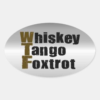 ウィスキーのタンゴはフォックストロットを踊ります 楕円形シール