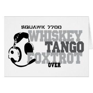 ウィスキーのタンゴはユーモア-航空フォックストロットを踊ります カード
