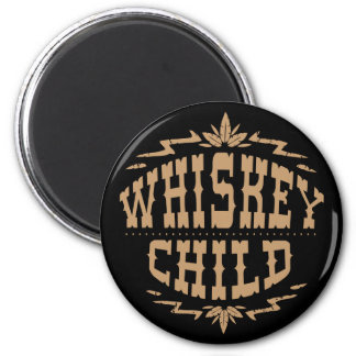 ウィスキーの児童の黒い磁石w/Fallの収穫のロゴ マグネット