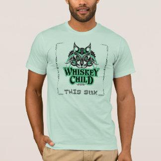 """ウィスキーの児童の""""このSux""""のTシャツw/Felineのデザイン Tシャツ"""