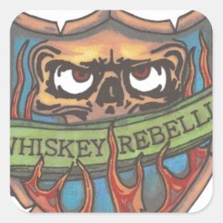 ウィスキーの暴動のロゴ スクエアシール