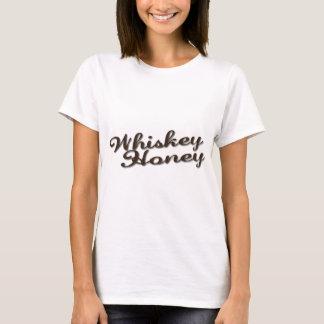 ウィスキーの蜂蜜のロゴT Tシャツ