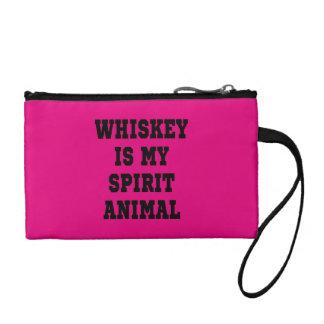 ウィスキーは私の精神の動物のジッパーの袋です コインパース