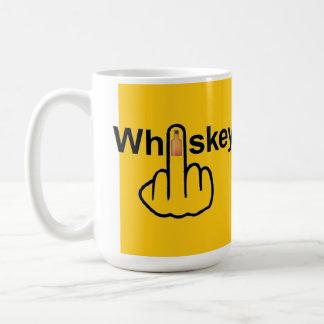 ウィスキーフリップを弾いているマグの鳥 コーヒーマグカップ