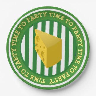 ウィスコンシンのチーズ頭部のパーティーの紙皿 ペーパープレート