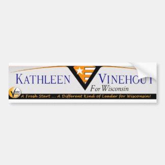 ウィスコンシンのバンパーステッカーのためのVinehout バンパーステッカー