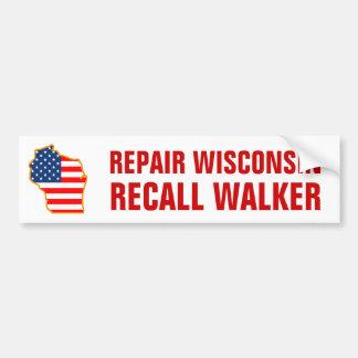ウィスコンシンのリコールの歩行者を修理して下さい バンパーステッカー