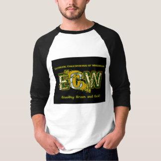 ウィスコンシンのロゴ3/4の袖の極度なCheeseheads Tシャツ