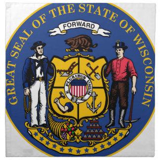 ウィスコンシンの国家seal.jpg ナプキンクロス
