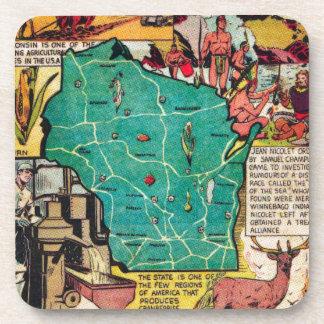 ウィスコンシンの地図および事実 コースター