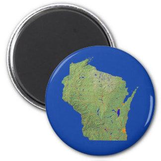 ウィスコンシンの地図の磁石 マグネット