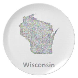 ウィスコンシンの地図 プレート