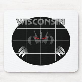 ウィスコンシンの州のアナグマのデザイン マウスパッド
