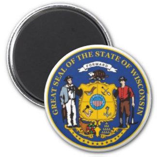 ウィスコンシンの州のシールの磁石 マグネット