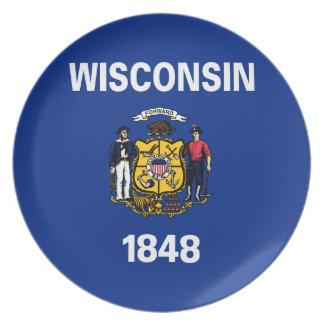 ウィスコンシンの州の旗 プレート