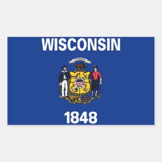 ウィスコンシンの州の旗 長方形シール