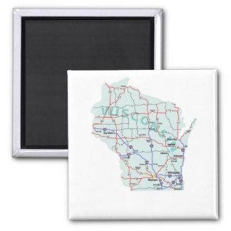 ウィスコンシンの州連帯の地図の磁石 マグネット