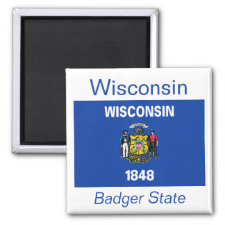 ウィスコンシンの旗の磁石 マグネット