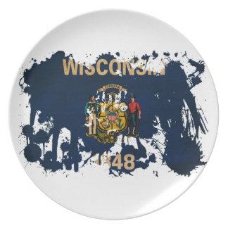 ウィスコンシンの旗 プレート