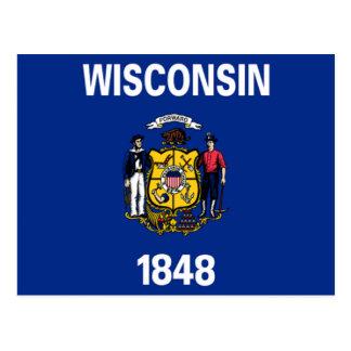 ウィスコンシンの旗 ポストカード