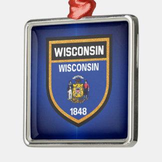 ウィスコンシンの旗 メタルオーナメント