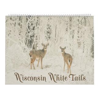 ウィスコンシンの白い尾 カレンダー