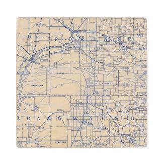 ウィスコンシンの自転車の道路図2 ウッドコースター