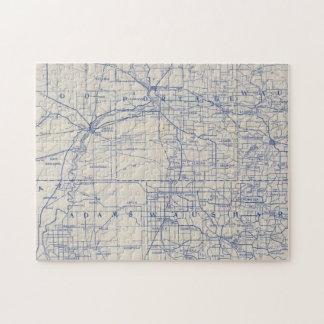 ウィスコンシンの自転車の道路図2 ジグソーパズル
