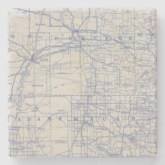 ウィスコンシンの自転車の道路図2 ストーンコースター