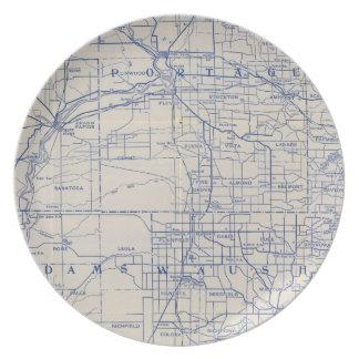 ウィスコンシンの自転車の道路図2 プレート