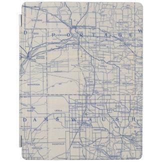 ウィスコンシンの自転車の道路図2 iPadスマートカバー