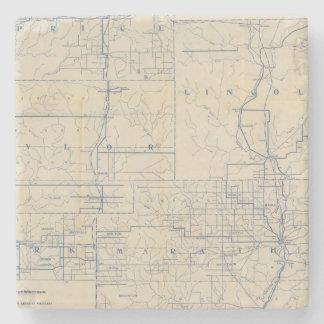 ウィスコンシンの自転車の道路図3 ストーンコースター