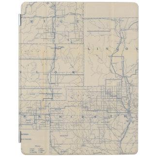 ウィスコンシンの自転車の道路図3 iPadスマートカバー