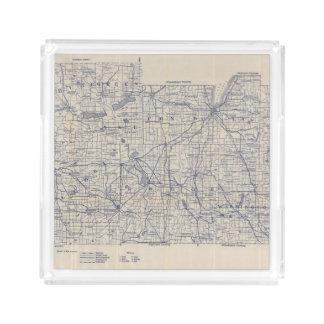 ウィスコンシンの自転車の道路図4 アクリルトレー