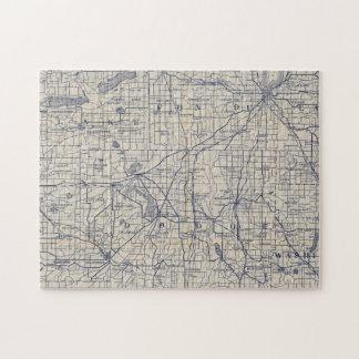 ウィスコンシンの自転車の道路図4 ジグソーパズル