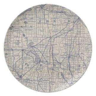 ウィスコンシンの自転車の道路図4 プレート