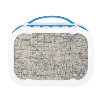 ウィスコンシンの自転車の道路図4 ランチボックス