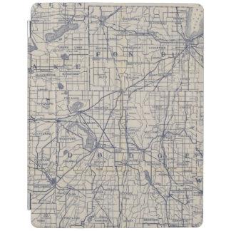 ウィスコンシンの自転車の道路図4 iPadスマートカバー