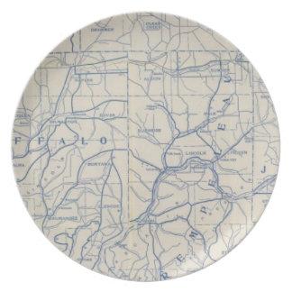 ウィスコンシンの自転車の道路図6 プレート