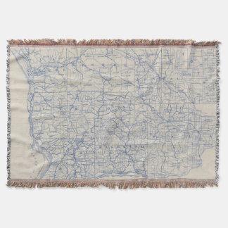 ウィスコンシンの自転車の道路図 スローブランケット
