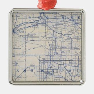 ウィスコンシンの自転車の道路図 メタルオーナメント