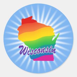 ウィスコンシンの虹の州 ラウンドシール