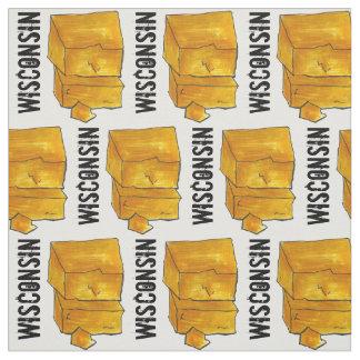 ウィスコンシンの黄色いチェダー・チーズのマディソンWIのグルメ ファブリック