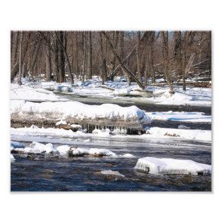 ウィスコンシンのSnowyの川 フォトプリント