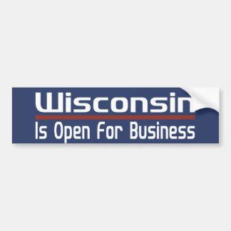 ウィスコンシンはビジネスのために開いています バンパーステッカー