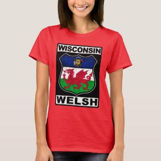 ウィスコンシンウェールズのアメリカ人 Tシャツ