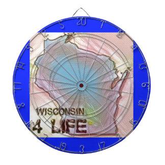"""""""ウィスコンシン4生命""""の州の地図のプライドのデザイン ダーツボード"""