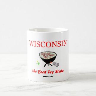 ウィスコンシン-がきの揚げ物の国家--のコーヒー・マグ コーヒーマグカップ